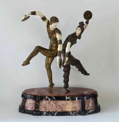 Demetre Chiparus, Danzatori in abiti orientali, 1925-30, collezione privata, courtesy ED Gallery, Piacenza