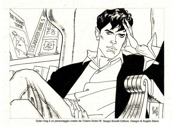 Dylan Dog, disegno di Angelo Stano (c) Sergio Bonelli Editore