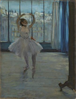 Edgar Degas, La Danseuse dans l'atelier du photographe, 1875. Mosca, Museo di Stato delle Belle Arti