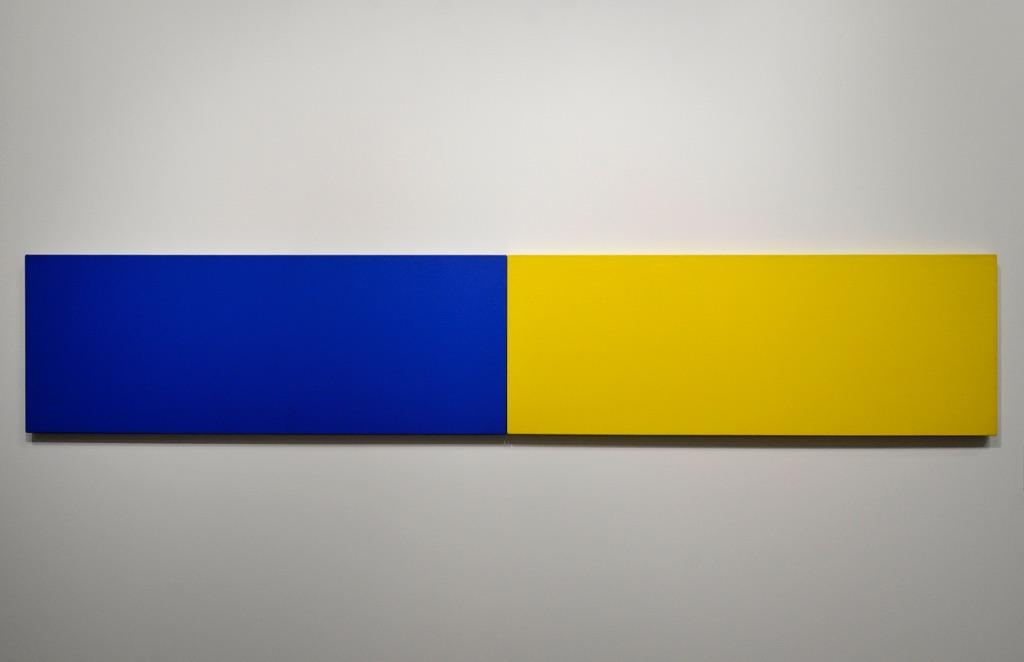 Ellsworth Kelly, Two Panels, Blue Yellow, 1970