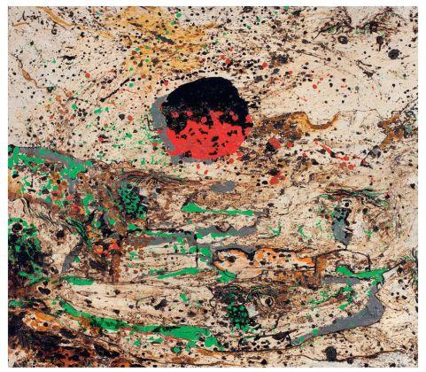 Enrico Baj, Montagna con sole, 1957. Museo del Novecento, Collezione Boschi Di Stefano © Comune di Milano. Photo Mauro Ranzani
