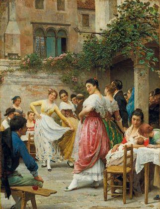Eugenio De Blaas, Festa di Battesimo