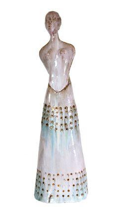 Fausto Melotti, Kore, 1955 ca., ceramica smaltata policroma, 107x33x27 cm