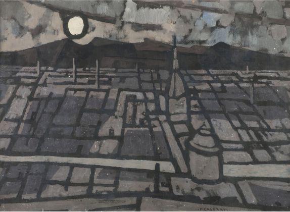 Felice Casorati, Notturno a Torino, 1954. Milano, Museo del Novecento © Comune di Milano. Photo Mauro Ranzani