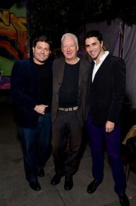 Filippo Tattoni-Marcozzi con Kenny Goss e Michael Craig-Martin