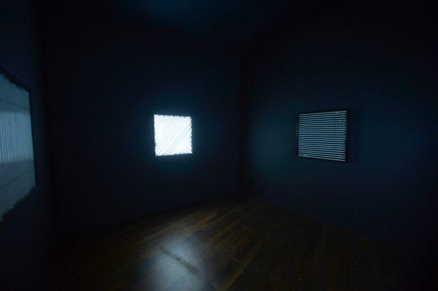 François Morellet, 4 panneaux avec 4 rythmes d'éclairage interférents, 1963