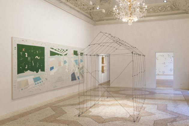 Gianfranco Baruchello, Greenhouse. Exhibition view at Galleria Massimo De Carlo, Milano 2017
