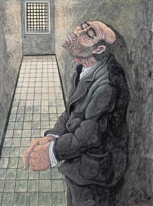 Gino Covili, Escluso, 1973/77, mista su cartone, cm 70 x 50, © COVILIARTE
