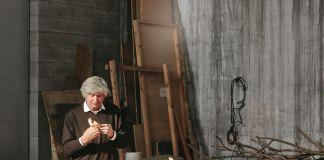 Giuseppe Penone nel suo studio a Torino, novembre 2016
