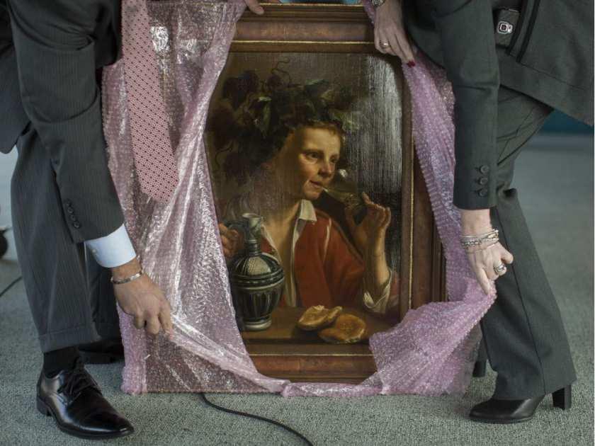 Gli agenti dell'Fbi svelano il dipinto ritrovato di Jan Fransz Verzijl