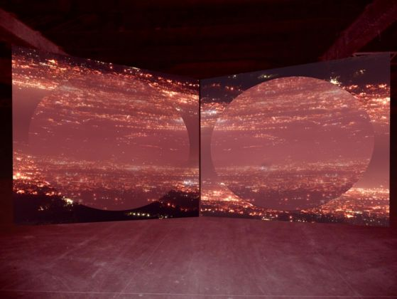 Grazia Toderi, Orbite Rosse, 2009. Installation, Various dimensions, Video Projection, loop, DVD, color, sound Ed. 1-5