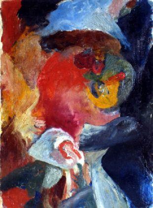Hans Richter, Lokomotivseele. Visionäres Portrait, 1916. Lugano, Museo d'arte della Svizzera italiana, Collezione Canton Ticino
