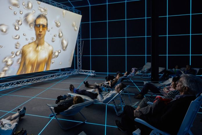 Hito Steyerl, Factory Of The Sun, 2015, Photo by by Manuel Renartz