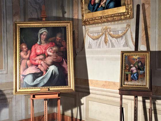 Il Gabinetto Verde con le opere di Jacopino del Conte e Marcello Venusti