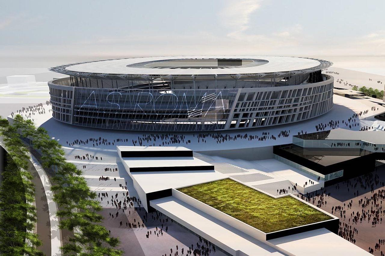 Il nuovo Stadio della Roma, rendering