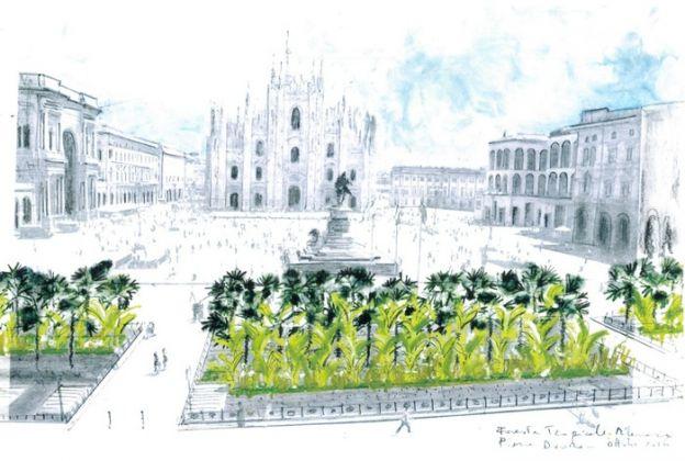 Il progetto di Marco Bay per Piaza Duomo - foto Ansa