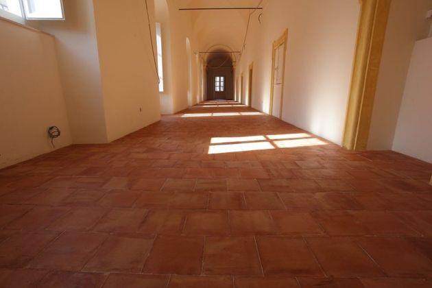 Interno dell'ex convento dei crociferi, futura sede del Museo Egizio a Catania