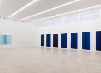 Irma Blank, Life Line. Exhibition view at P420, Bologna 2017. Photo C. Favero