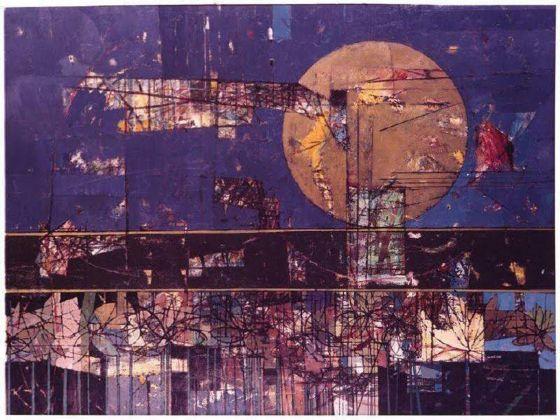 Jack Perlmutter, Moon, Horizon & Flowers (Rocket Rollout) , 1969