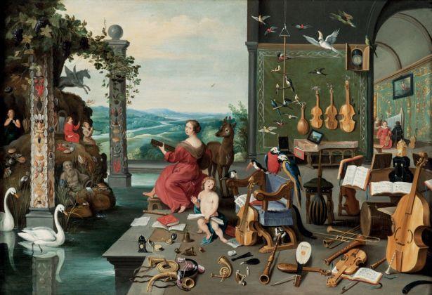 Jan Brueghel il Giovane, Allegoria dell'udito, 1645-50 ca.. Collezione privata