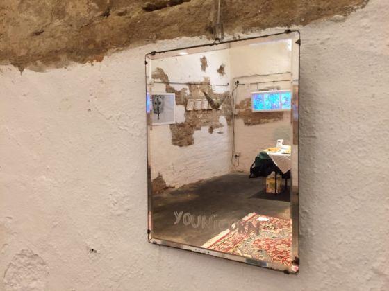Janina Lucia Beha, Spirali, linee, quadrifogli. Exhibition view at Magazzini UTO, Macerata 2017
