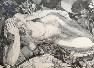 Jean-Pierre Velly, La vieille, 1965-66, bulino