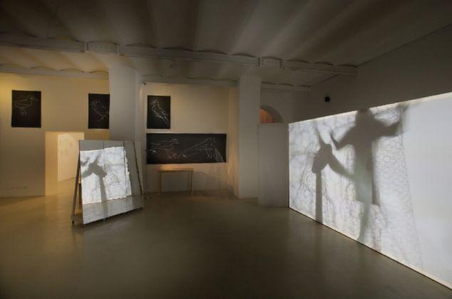Joan Jonas. Exhibition view at Galleria Alessandra Bonomo, Roma 2017
