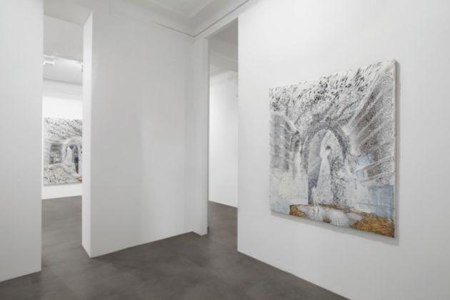 Joerg Lozek, White Paintings. Exhibition view at Galleria Mimmo Scognamiglio, Milano 2017