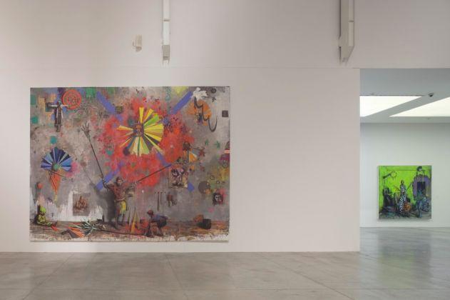 Jonas Burgert, Lotsucht. Scandagliodipendenza. Exhibition view at MAMbo, Bologna 2017. Photo Matteo Monti