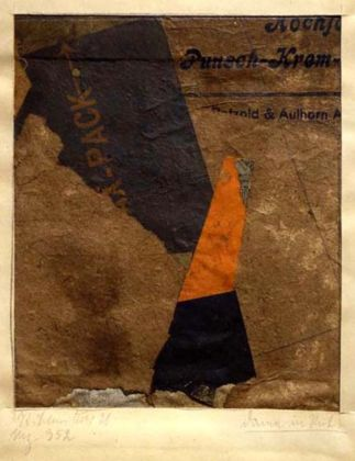 Kurt Schwitters, Merz 352 (Signora in rosso), 1921