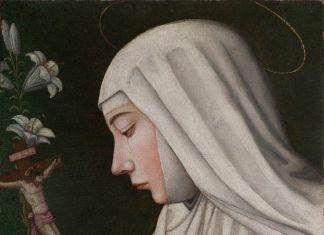 La Santa Caterina con il giglio di Plautilla Nelli dopo il restauro. Photo Dominigue Erabatti