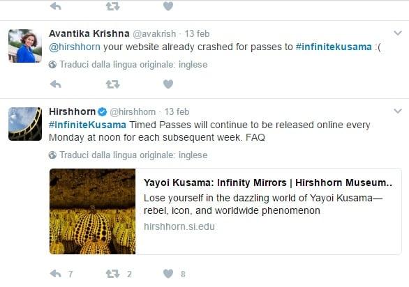 La campagna per i pass gratis su Twitter e il sito in crash