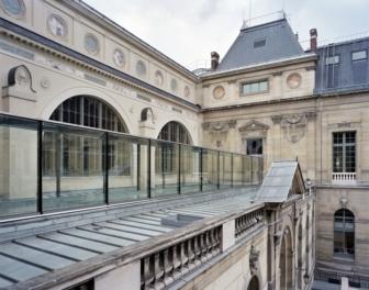 La corte della Bibliothèque Nationale de France (foto Marchand Meffre)