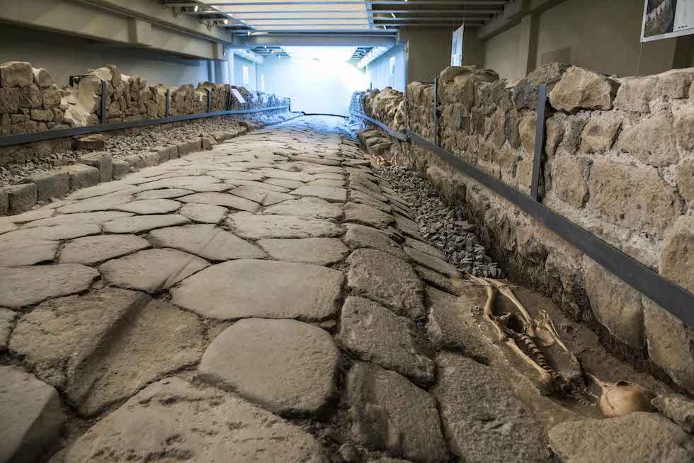 La galleria archeologica del McDonald's di Marino, in provincia di Roma