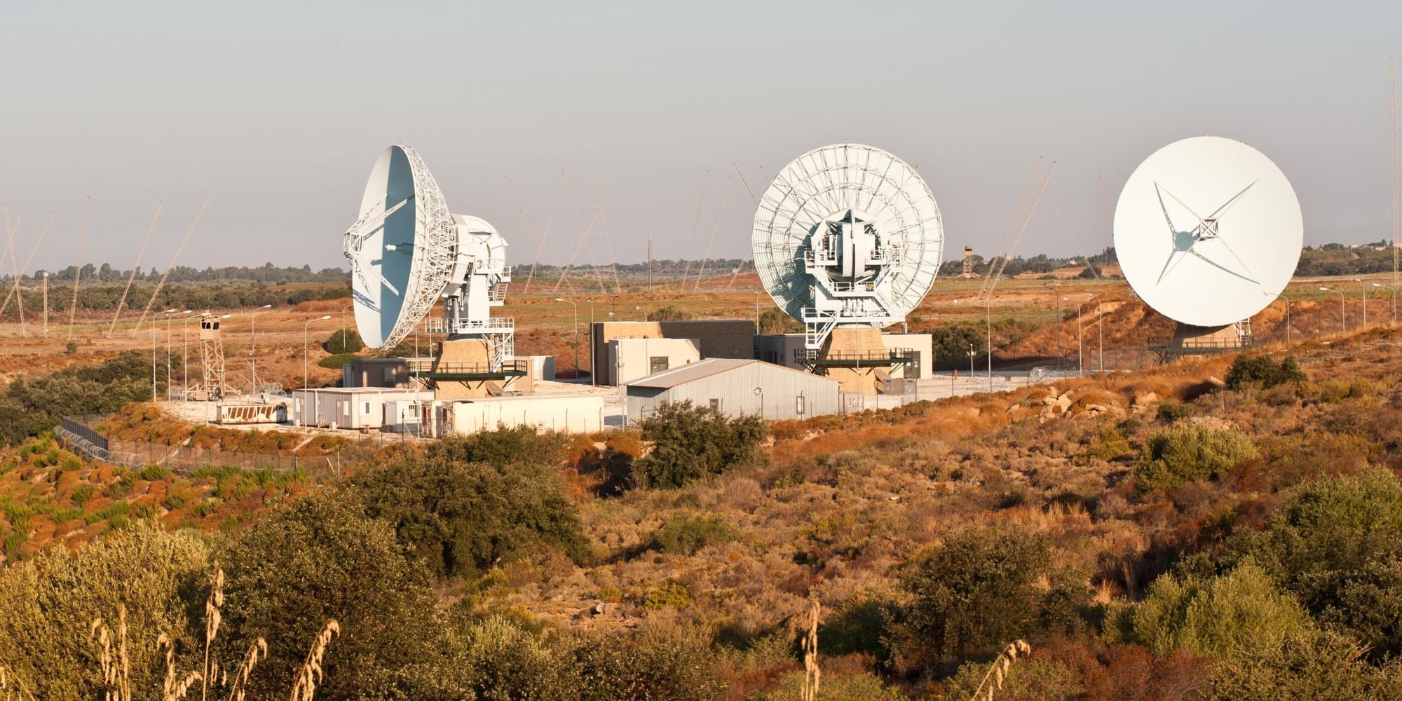 Le antenne del Muos, a Niscemi