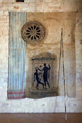 Lino Sivilli, Tempio greco. Rosone romanico, 1989. Bitetto, collezione dell'artista