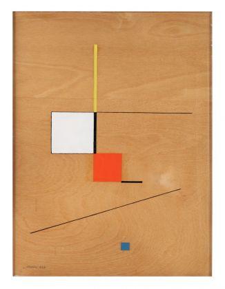 Luigi Veronesi, Costruzione G1, 1943, olio su tavola, 40x30 cm. Courtesy Galleria 10 A.M. Art, Milano