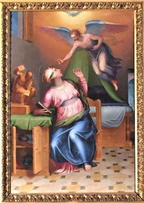 Marcello Venusti, Annunciazione, olio su tela, cm 30 x 45, Gallerie Nazionali di Arte Antica di Roma, Galleria Corsini