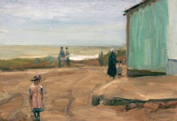 Max Liebermann, Sulla spiaggia di Noordwijk, 1908. Collezione della Fondazione per la Cultura Kurt e Barbara Alten, Castello San Materno