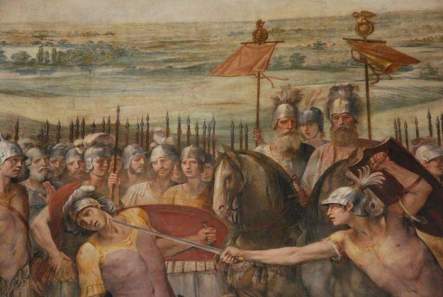 Musei Capitolini, Sala Orazi e Curiazi. Un dettaglio degli affreschi dipinti dal Cavalier d'Arpino