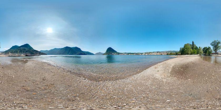 Panorama sul lago di Lugano con vista sul Monte San Salvatore - (c) Edmondo Viselli