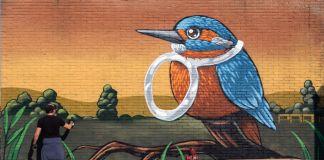 Pao, Terzo Paesaggio, 2015, wall painting, Parma