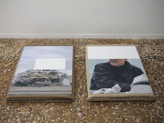 Paolo Puddu, Smerghetto Time (behind his back). Photo courtesy Ana Blagojevic, Fondazione Bevilacqua La Masa, Venezia 2017