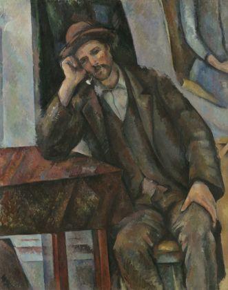 Paul Cézanne, L'Homme à la pipe. Le Fumeur, 1890-93. Mosca, Museo di Stato delle Belle Arti