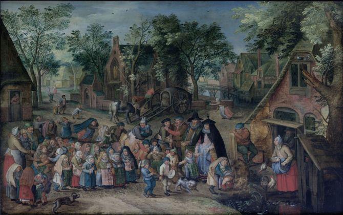 Pieter Brueghel il Giovane, La sposa di Pentecoste, 1620-23. Anhaltische Gemäldegalerie Dessau