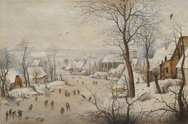 Pieter Brueghel il Giovane, La trappola per gli uccelli, 1601. Collezione privata, Lussemburgo