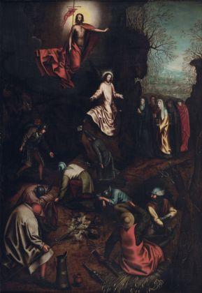 Pieter Brueghel il Vecchio e bottega, La Resurrezione, 1563 ca.. Collezione privata, Belgio