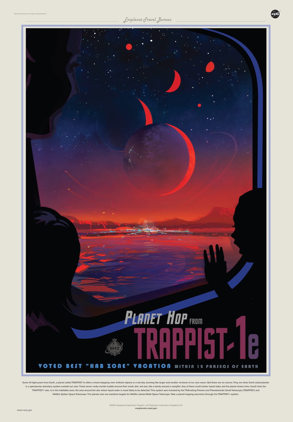 Poster Trappist-1 by Amanda J. Smith for Nasa 2