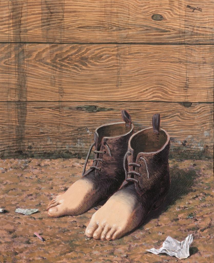 René Magritte, Le modèle rouge, 1947. Collezione privata
