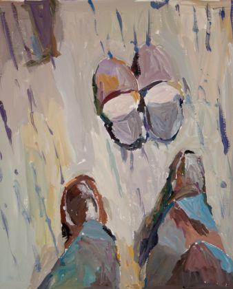 Renato Barilli, Ancora le mie scarpe, 2015-16. Tempera su carta Fabriano, cm 70x50 ca.